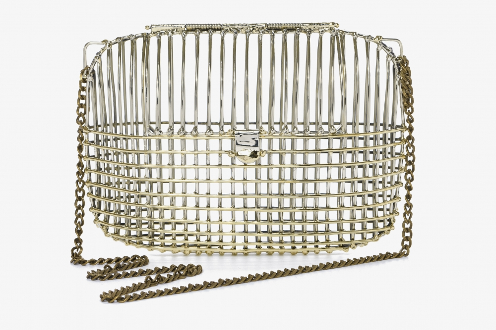 Two Tone Large Cage Bag