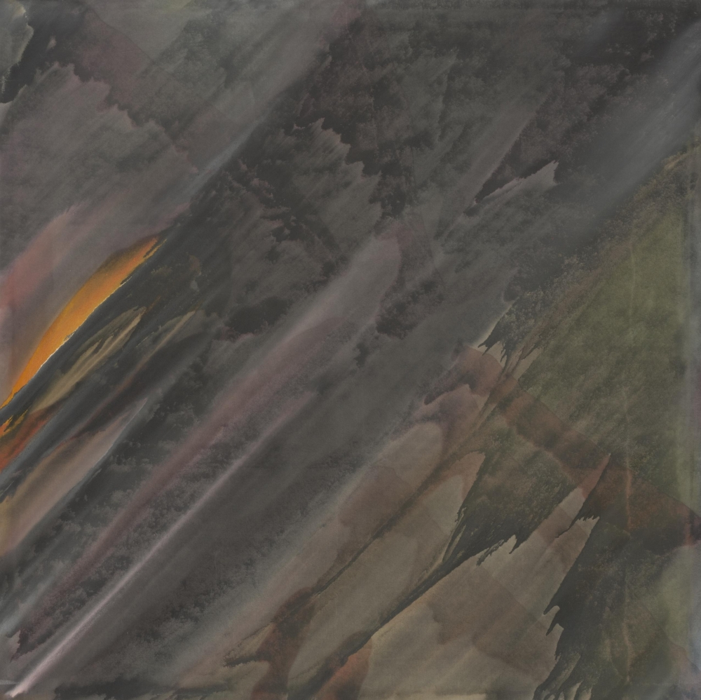 Howard Mehring, Diagonal (detail), 1958, acrylic on canvas, 77 x 77 inches.