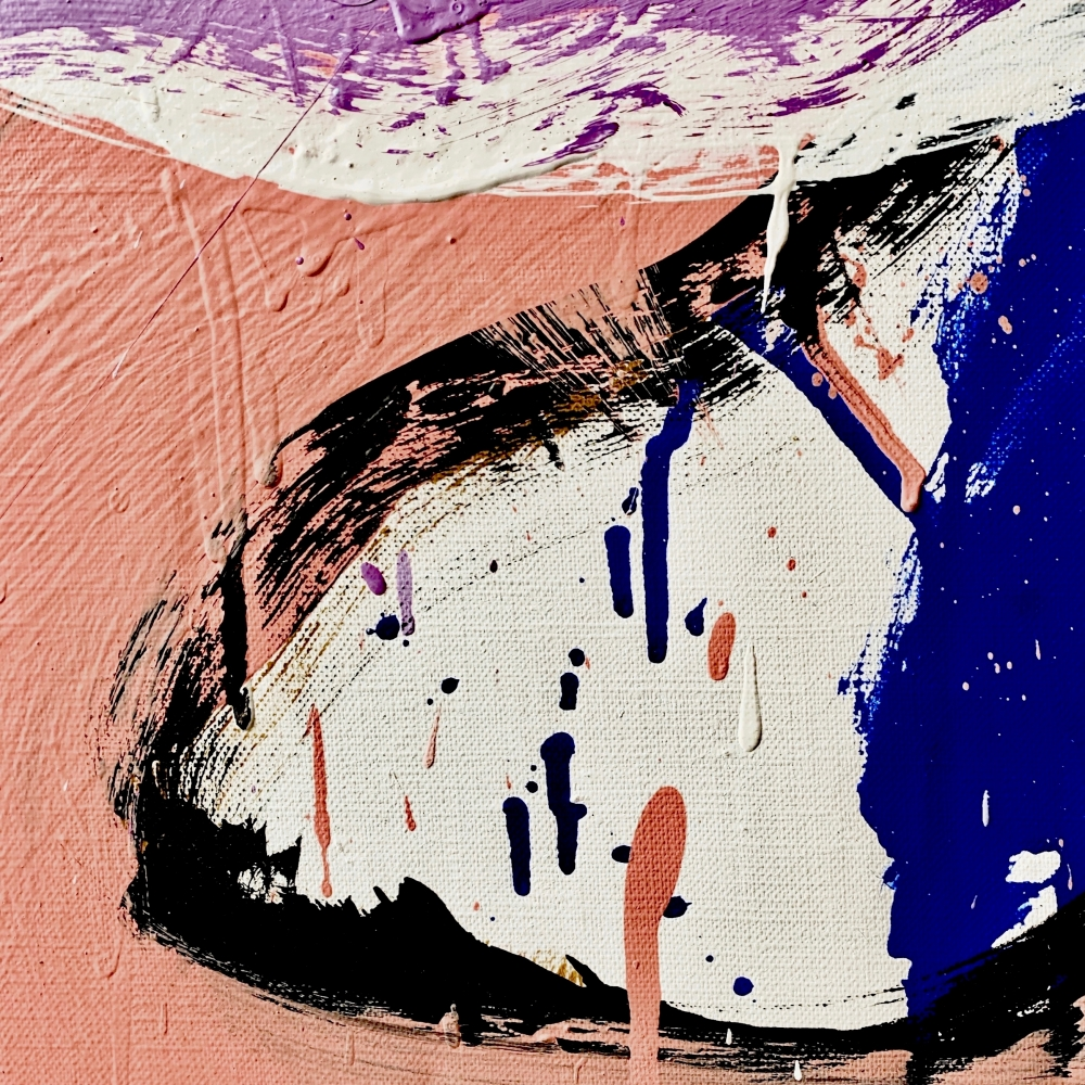 Norman Bluhm, Untitled (detail), c.1970, oil on canvas, 28 x 24 inches.