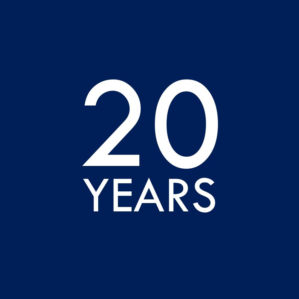 20 years graphic