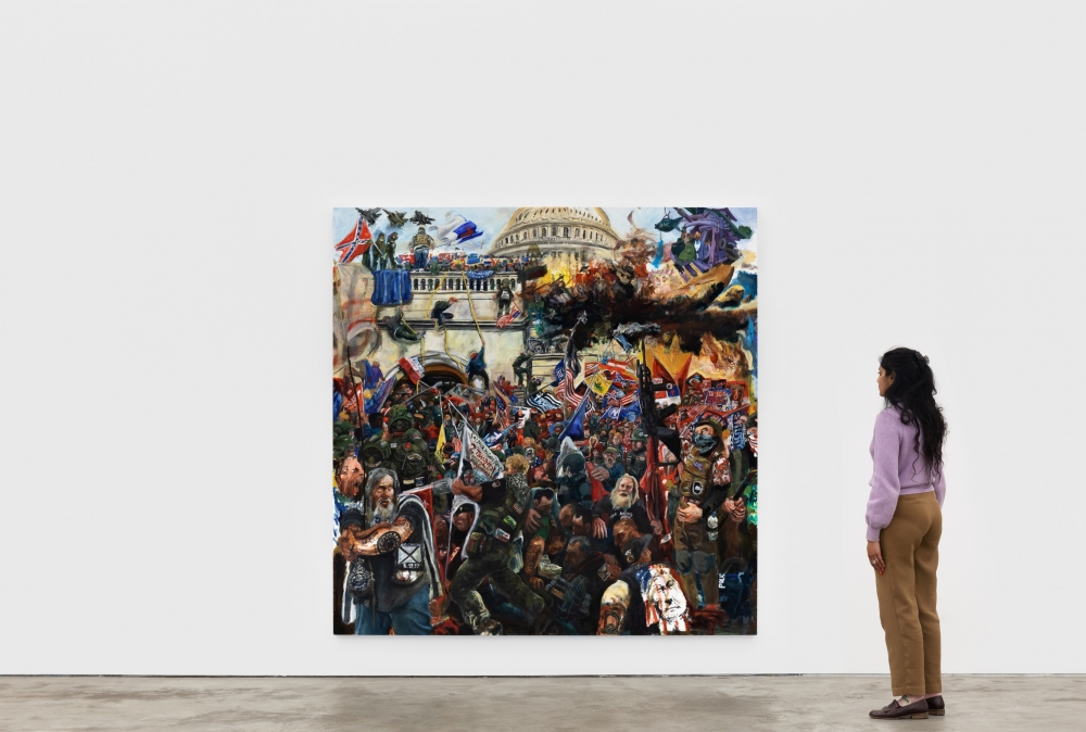 'There Are Monsters on All Sides': Celeste Dupuy-Spencer on Why Her Epic Painting of the Capitol Riot Is Not a Simple Morality Tale