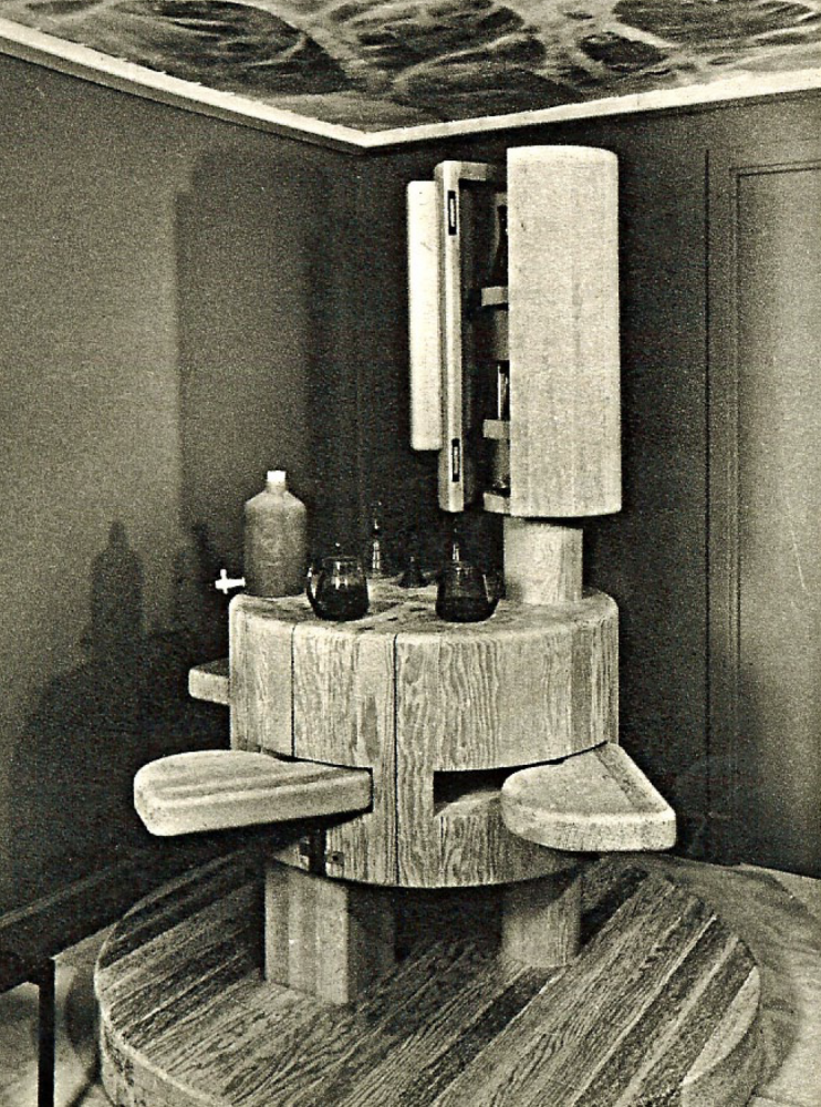 The bar in Mr & Mrs Behin's residence, Boulogne, France, c. 1960