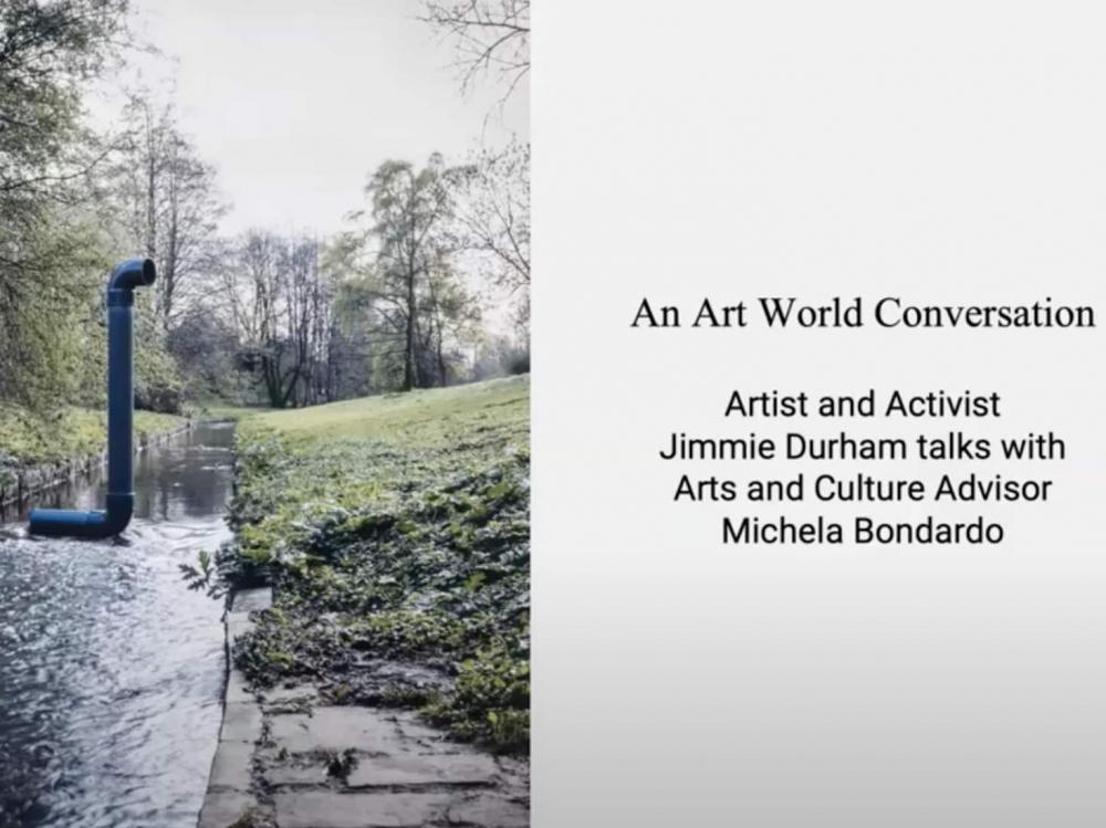 conversación: jimmie durham - conversación con michela bondardo