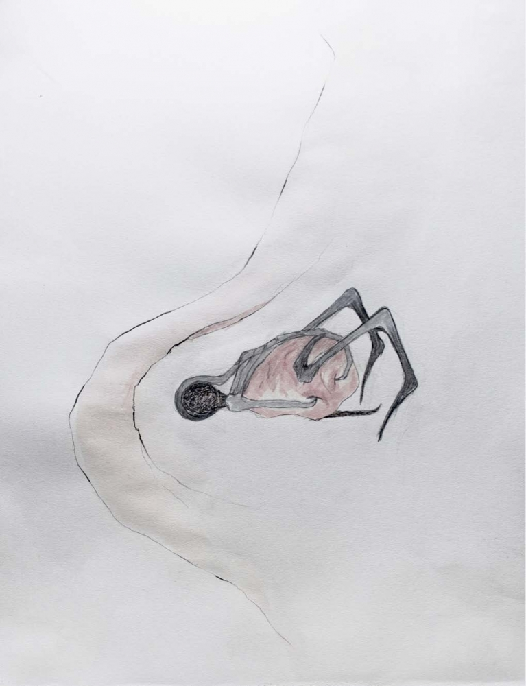 Pencil, ink, charcoal, marker on paper by Ivana Bašić called ungrounding, 2020