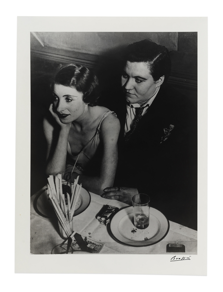 Black and white photograph of a couple