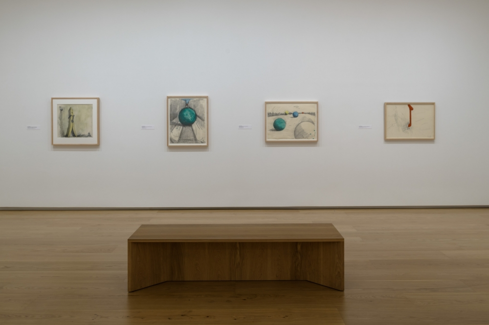 """Claes Oldenburg in """"Dream Monuments: Drawing in the 1960s and 1970s"""""""