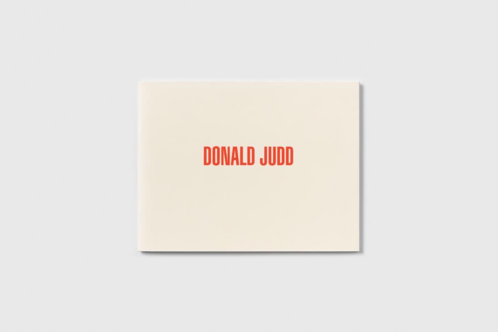 Donald Judd Cover