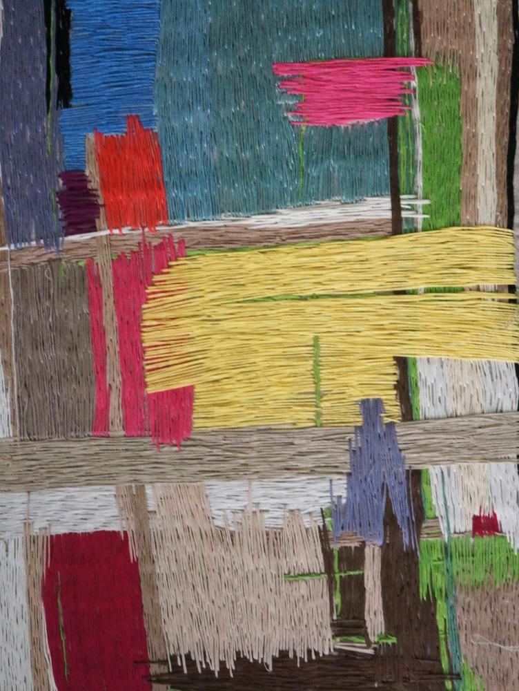 Natasha Das, Untitled Color Composition 1, Thread On Canvas