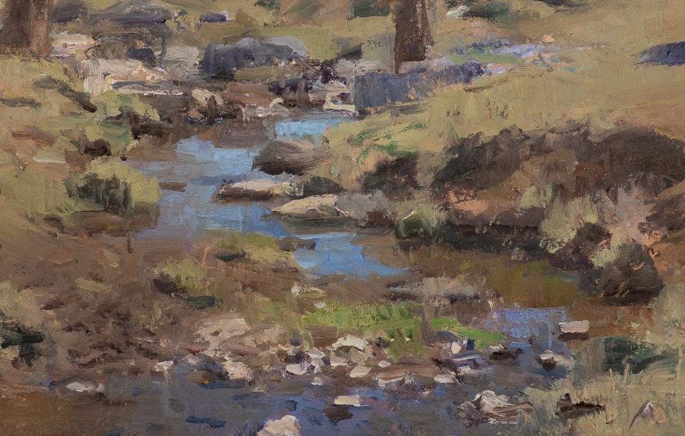 """Swover Creek II  8.75"""" x 12.5""""  Oil On Panel"""