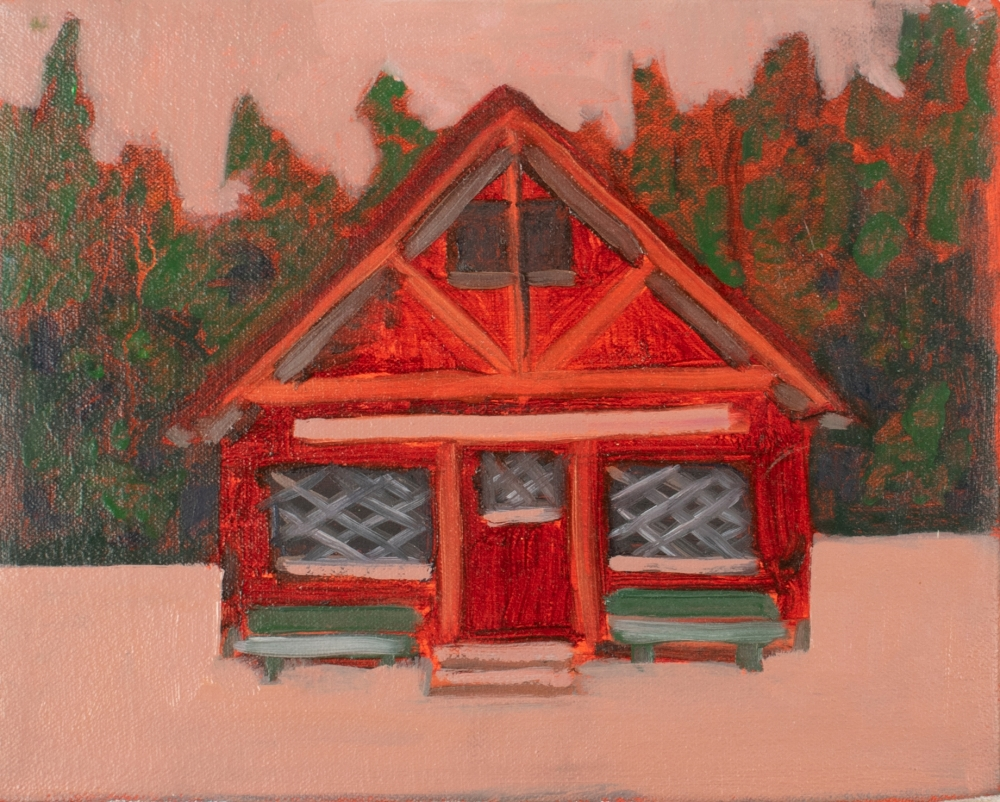 "Pioneer Cabin, 8"" x 10"", Oil On Canvas"