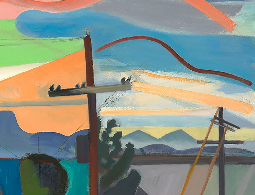 Martha Armstrong, Tuscon Sunset, Oil On Canvas