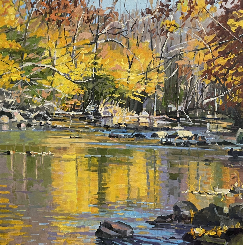 """French Creek Symphony, 24"""" x 24"""", Oil On Canvas"""