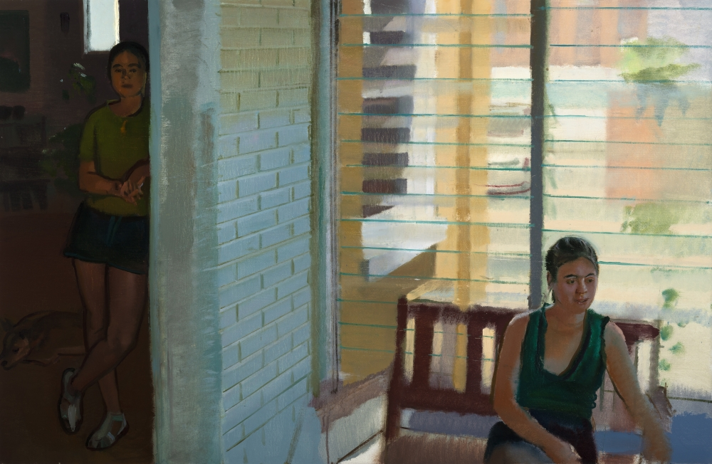 "The Porch at 252 Pensdale, 38"" x 54"" Oil On Linen"
