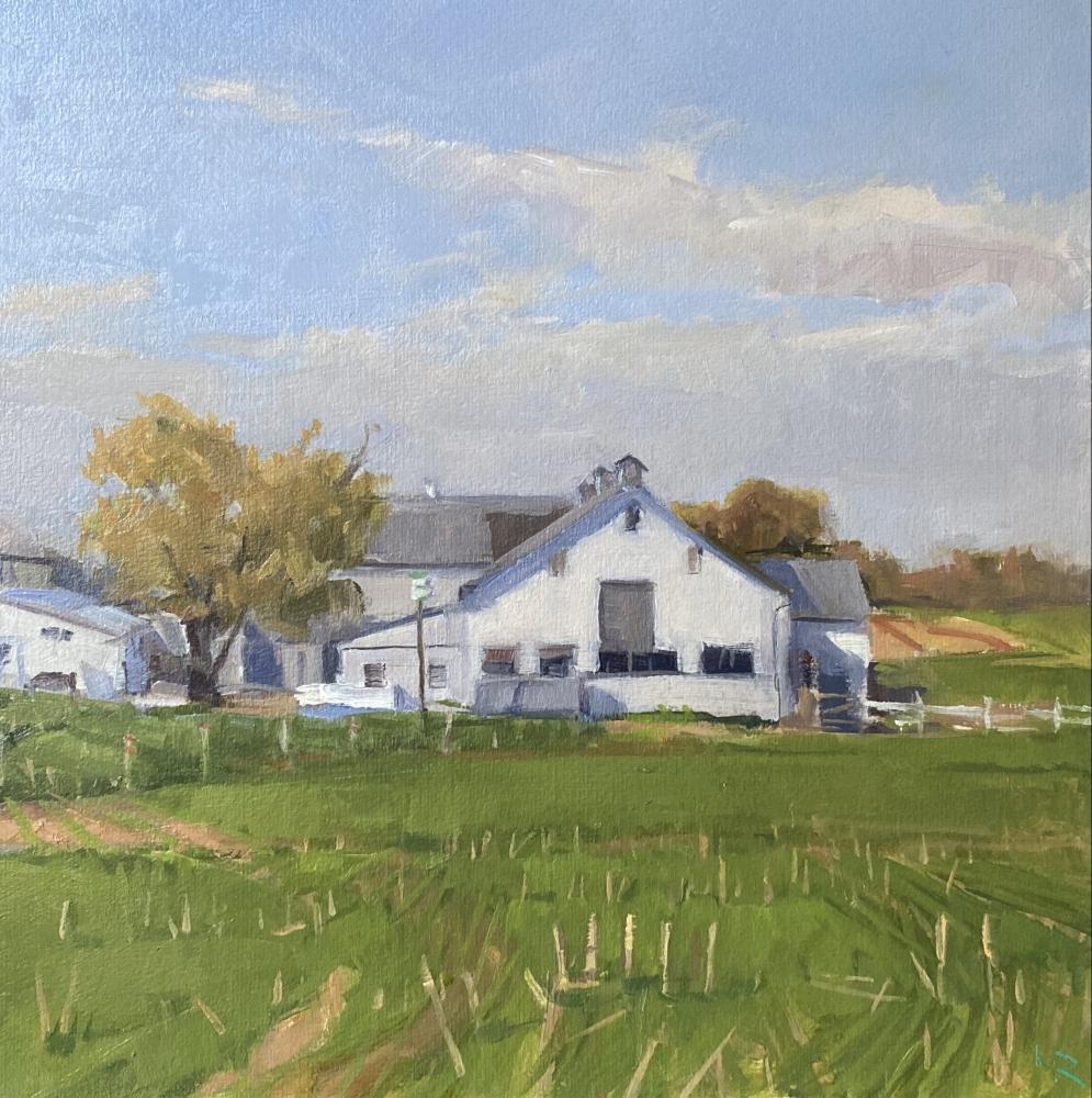 "Fall Field,  9"" x 9"", Oil On Panel"