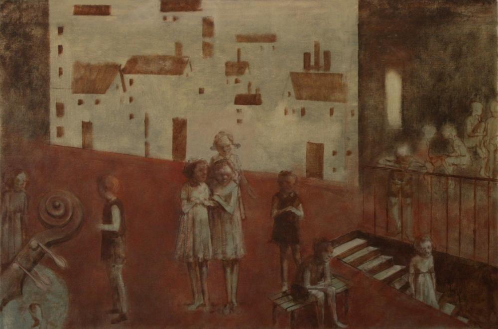 James Stewart, Rehearsal, 24 x 34, Oil on canvas