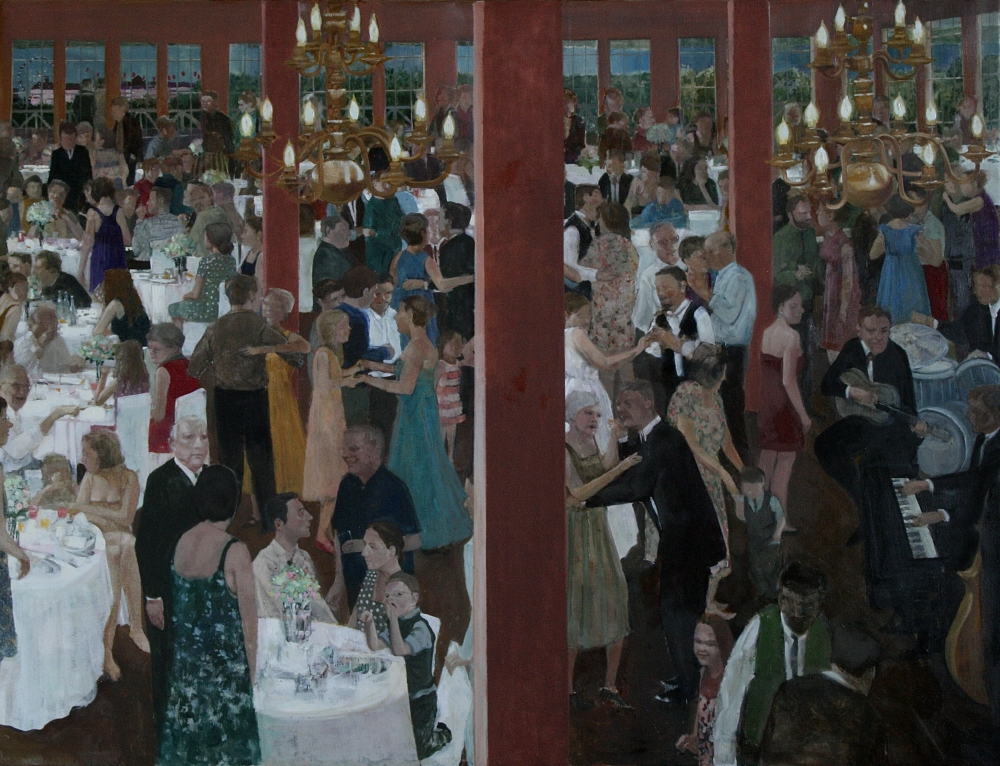 """Of Weddings Before The War, 47"""" x 62"""", Oil On Canvas"""