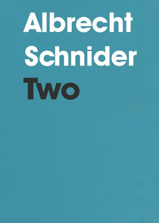 GALLERY PUBLICATION: Albrecht Schnider: Two
