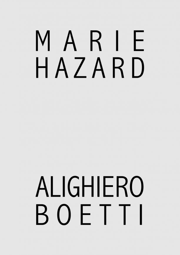 Marie Hazard x Alighiero Boetti