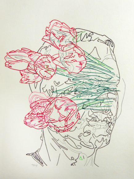 Tulips Teeth - Drawing #2