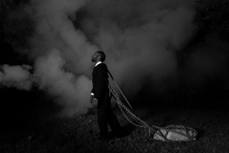 SHELDON SCOTT Self Portrait as John Henry, Machine