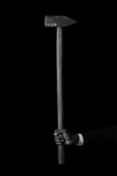 SHELDON SCOTT_Self Portrait as John Henry (Hammer)