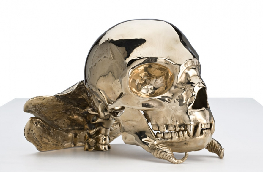 PATRICIA PICCININI_Not Quite Animal II (Transgenic skull for the Bodyguard)