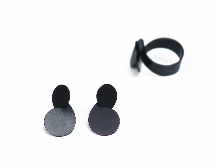Dorothea Brill propellor ring, earrings