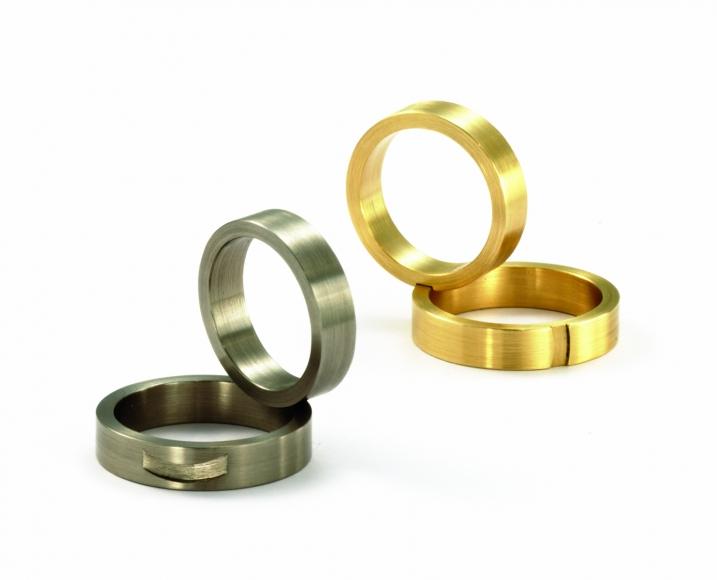 Patrick Malotki, heart, modern, unique, wedding bands, bow