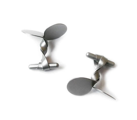 Dorothea Brill propellor ring cufflinks