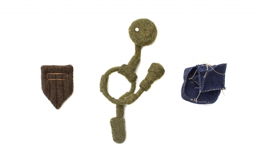 Aaron Decker, brooch, derby and his badges,