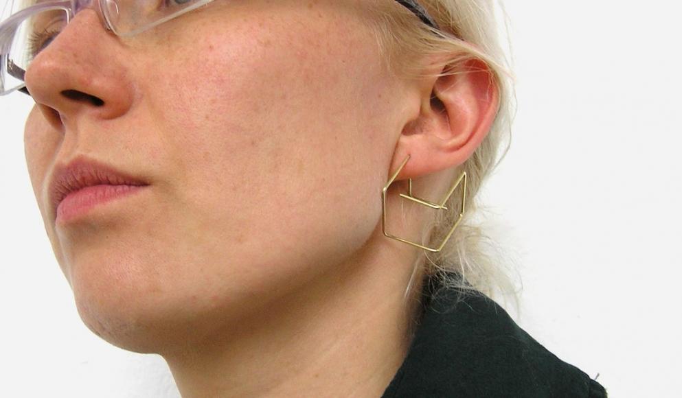 Jiro Kamata Cubes earrings gold