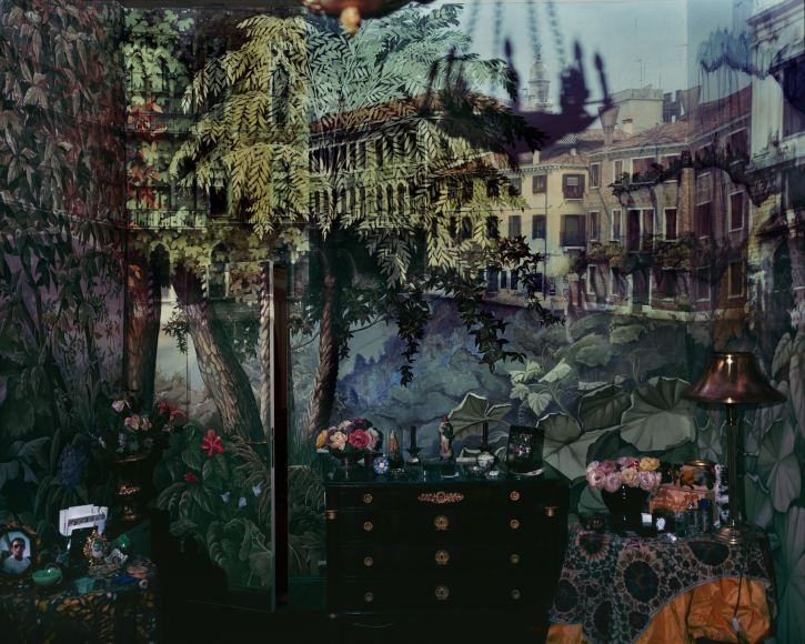 Abelardo Morell, Camera Obscura: View of Volta del Canal in Palazzo Room Painted With Jungle Motif, Venice, Italy, 2008