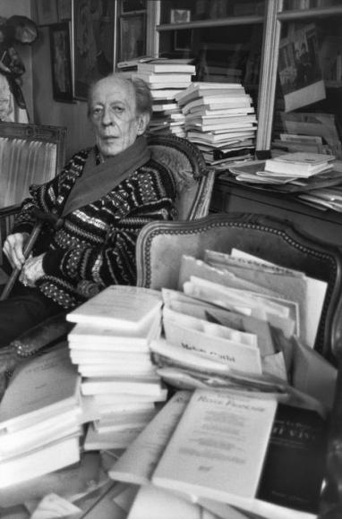 Henri Cartier-Bresson, « André Pieyre de Mandiargues, 1991 »