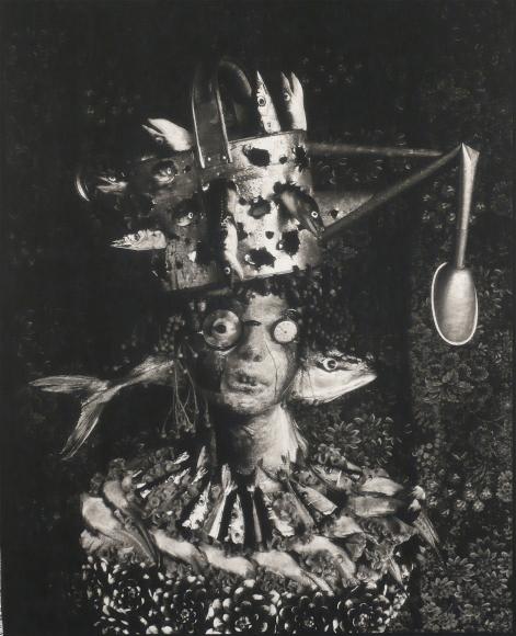 Michiko Kon, Yellowtail, Saury and Watering Pot, 1999