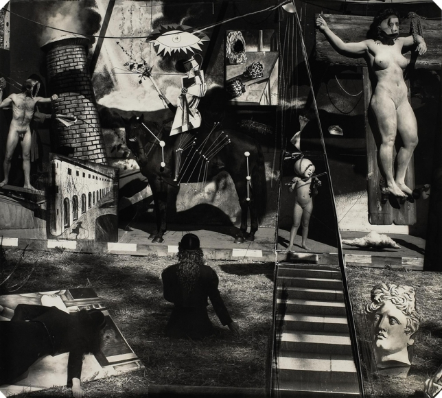 Joel-Peter Witkin, Waiting for de Chirico in the artists' section of purgatory, New Mexico, 1994