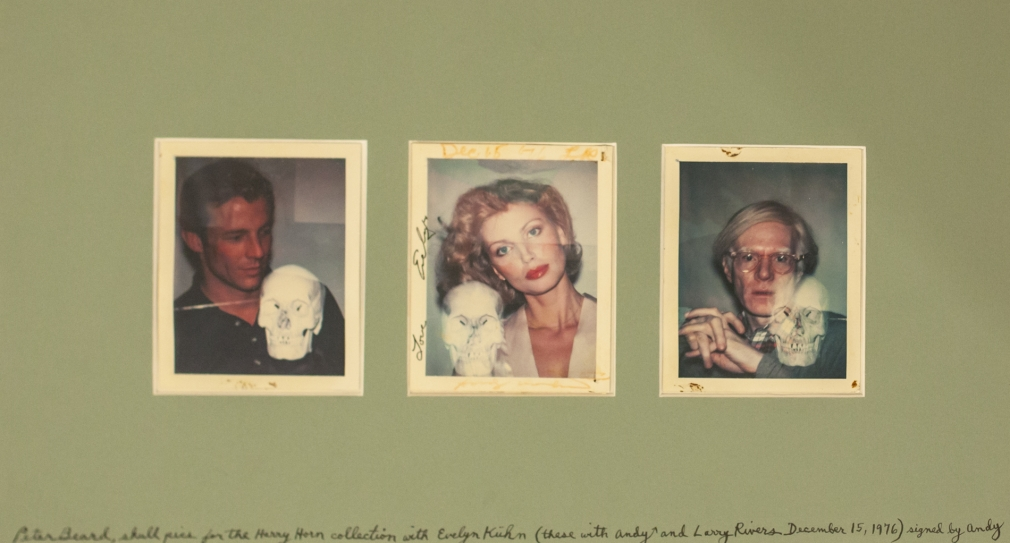 Peter Beard, Evelyn Kuhn and Andy Warhol Polaroid Shoot at the Factory