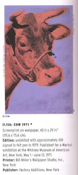 Cow - Warhol