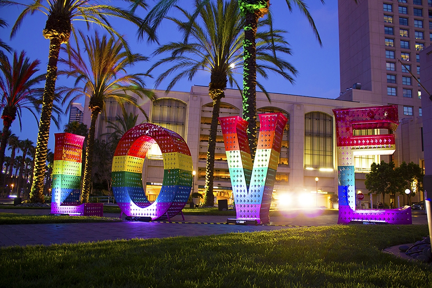 Rainbow LOVE in collab with Jeff Schomberg