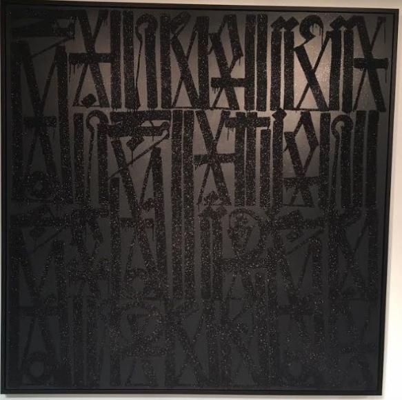 Black on Black Diamond Dust Acrylic on Canvas