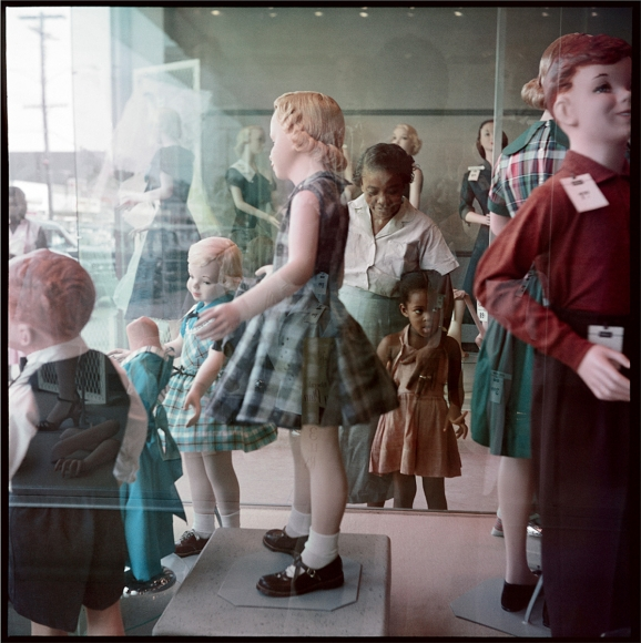 Ondria Tanner and Her Grandmother Window-shopping, Mobile, Alabama, 1956