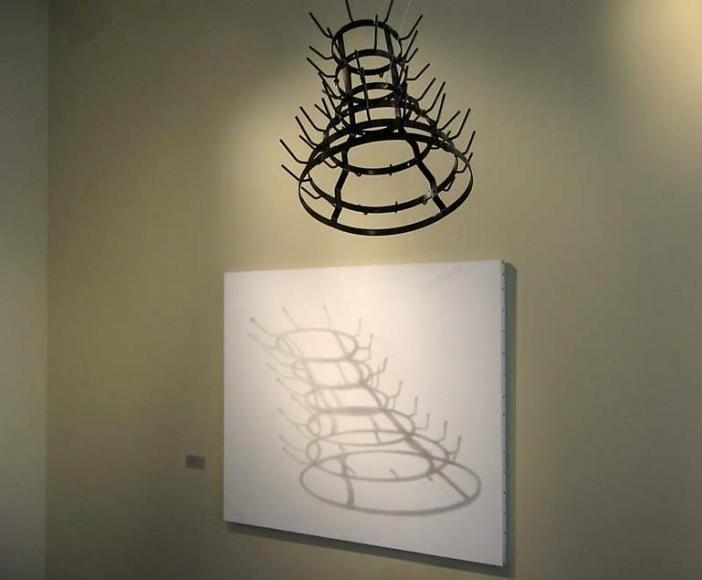 Shadow of the bottle rack exhibitions moeller fine art - Marcel duchamp porte bouteille ...