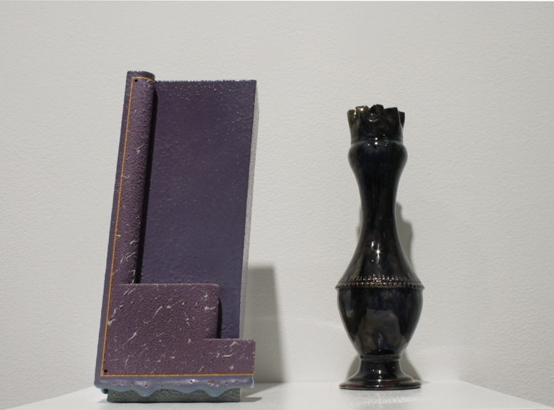 Gloss Purple two step & Blue Vase