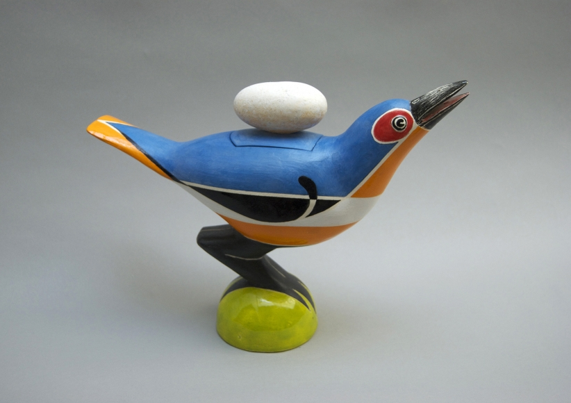 Warashina - Bird Covered Jar
