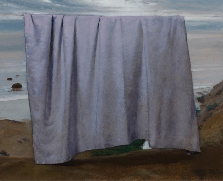 Untitled (white drape and sea)