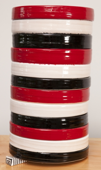 Stacked (Red-White-Black)