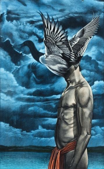 Untitled LR244 (man with bird-head)
