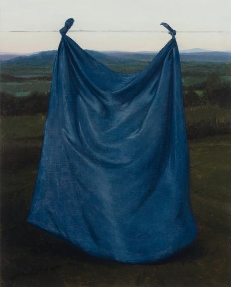 Untitled (suspended blue drape)