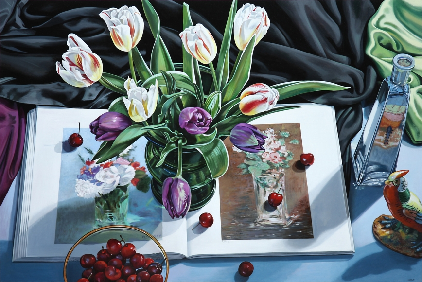 Wolf - Tulips with Book on Manet