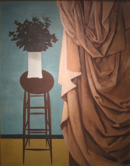 Untitled (Vase on Stool, Drape)