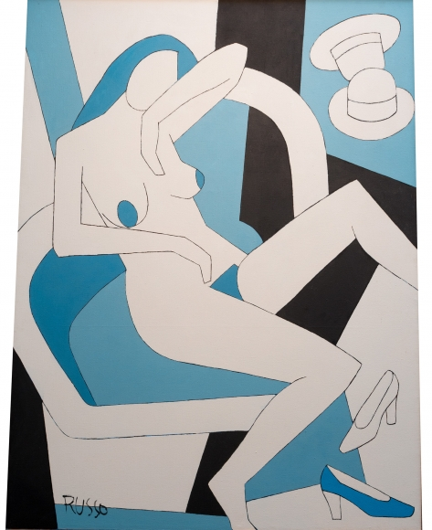 Russo - Blue Nude in Chair